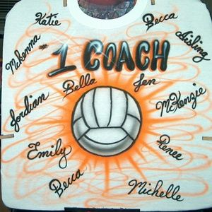 COACH GIFT Airbrushed T-shirt Custom ANY SPORT